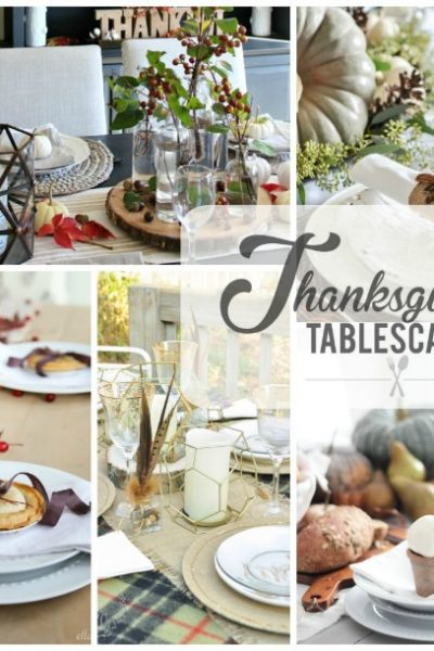 Beautiful Thanksgiving tablescape ideas.