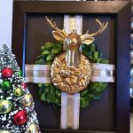 Framed Reindeer Christmas Wreath