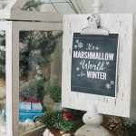It's a Marshmallow World Chalkboard Christmas Printable