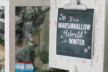 It's a Marshmallow World Chalkboard Christmas Printable