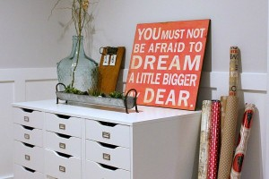 Storage Ideas and a Gift Wrapping Station