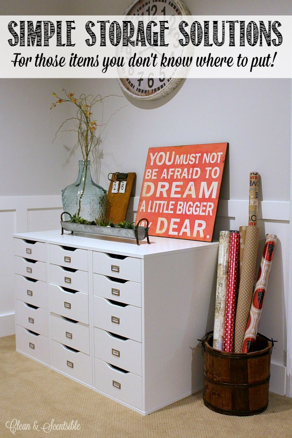 Great storage ideas for all of those little things that you don't know what to do with!