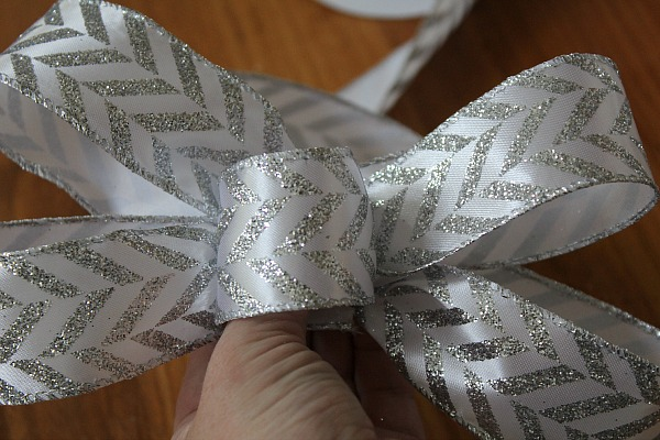 How to make a bow out of ribbon for a wreath.