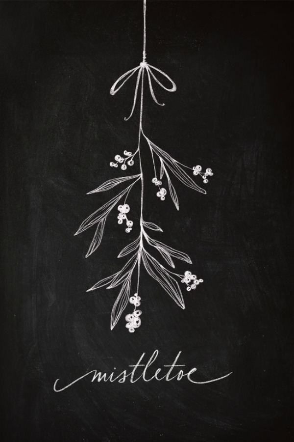 Christmas Chalkboard Inspiration - Clean and Scentsible