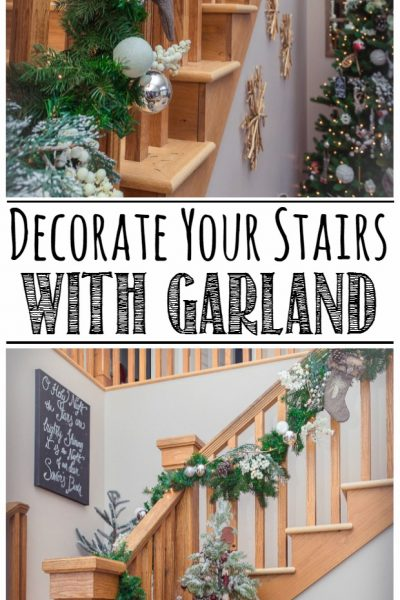 How to Hang a Garland on the Stairs