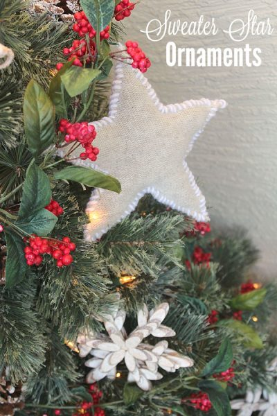 Sweater star Christmas ornaments.