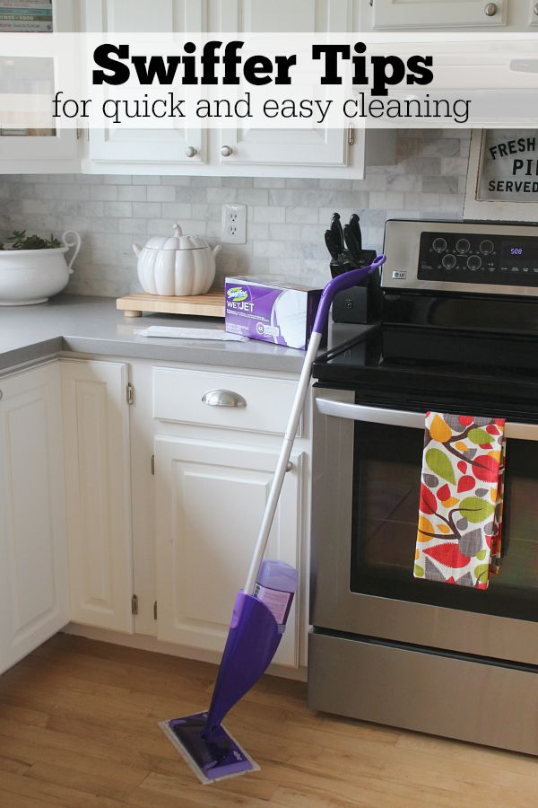 Great tips on using your Swiffer products to their full potential!