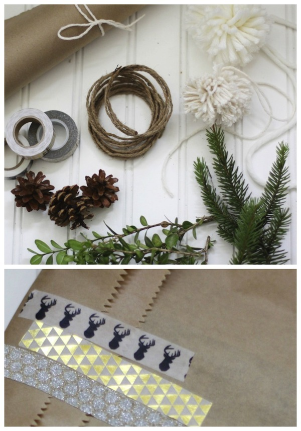 Beautiful yet simple gift wrapping ideas for Christmas!