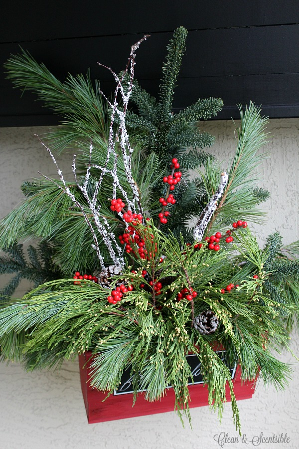 Christmas Hanging Baskets - Clean and Scentsible