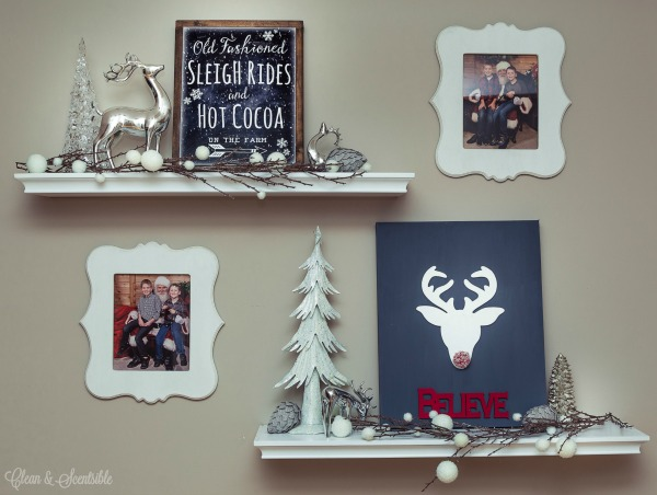 Gorgeous Christmas home tour in classic red and white. Lots of easy Christmas decorating ideas!
