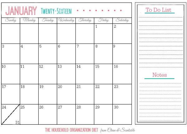 The 31 Day Household Detox. Follow this plan to jumpstart your decluttering process and organization habits. Just 15 minutes per day!