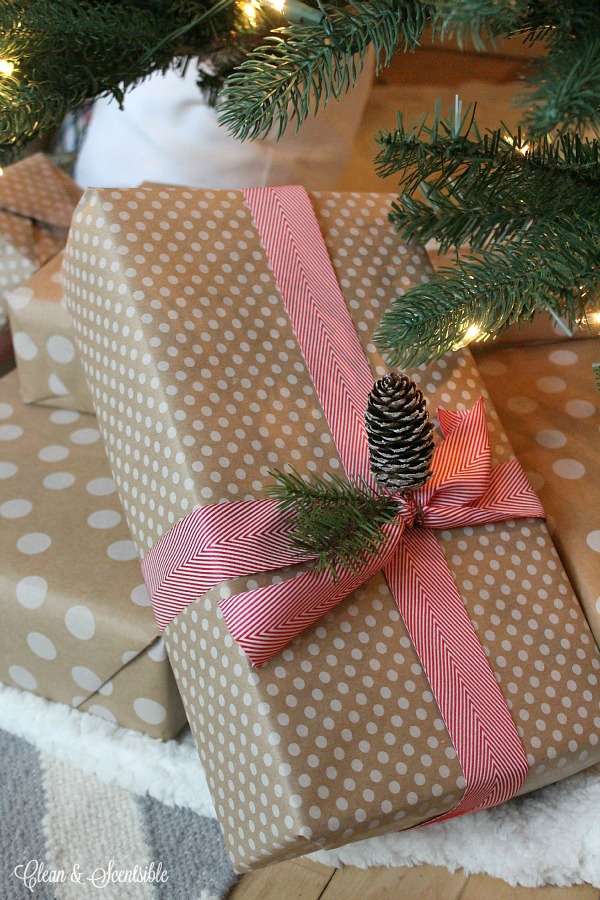 Quick and simple decorating using presents.