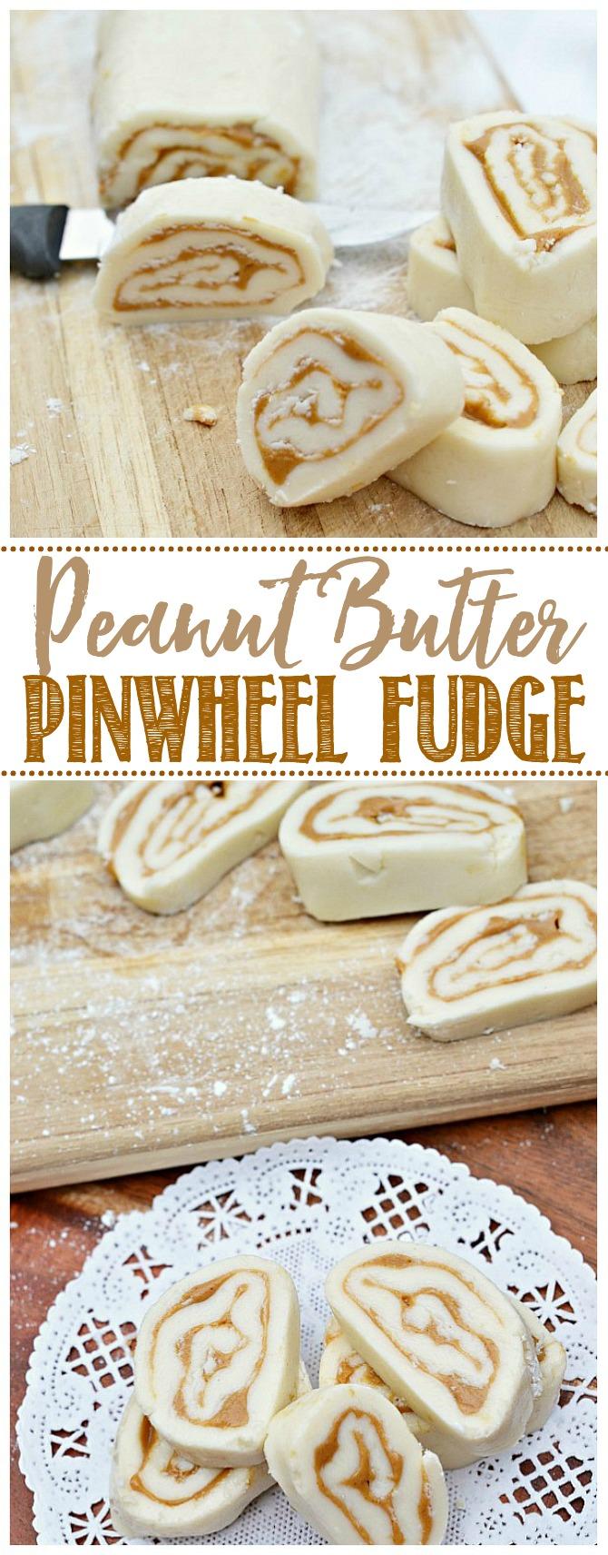 Old fashioned peanut butter pinwheel fudge.