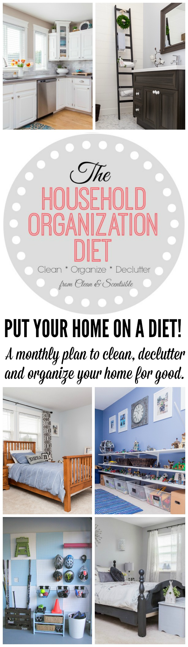 The 31 day household detox 2016 clean and scentsible for Declutter house plan