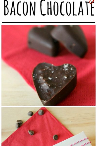 Make these delicious bacon chocolate hearts for a unique Valentine's Day gift! A definite taste sensation!