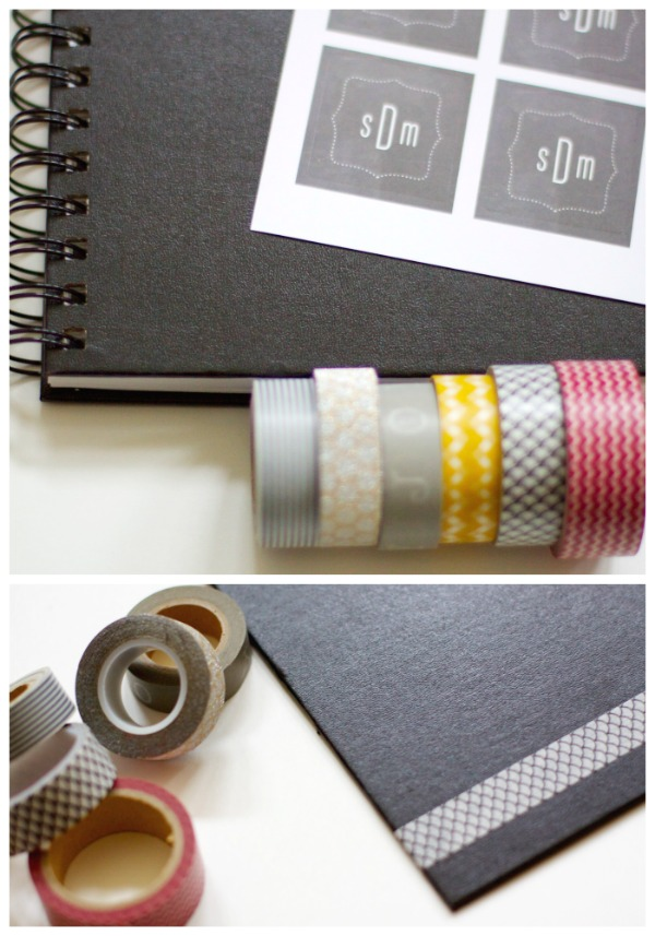 Create this cute washi tape notebook to jot down shopping lists,  favorite quotes, to do lists and more!  This would be great to keep in my purse!