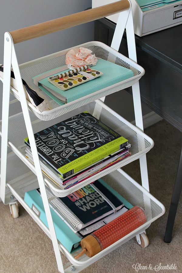 24 Amazing Storage Ideas That You Will Freakin' Love! My craft room is coming down with craft supplies, and I love finding new ways to organise my favourite products.. The above image is of Leenah's desk from Finding Nana; I love this lady!. A pure talent and I'm very envious of her organising skills. Those are some serious skills! My 3 Favourite Storage Options From This Post.