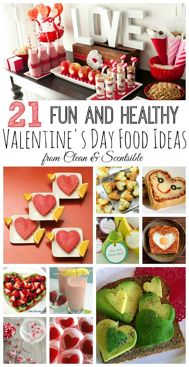 Fun and healthy Valentine's Day snack ideas. Great for Valentine's Day parties or class treats!