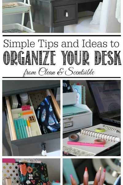 I love these simple organization ideas to keep your desk neat and organized!