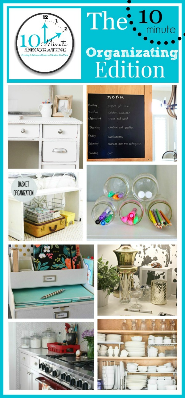 Simple organizing ideas that can be done in no time!