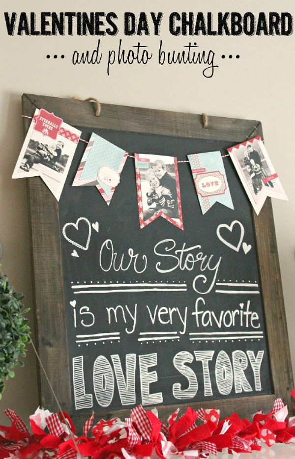 Make a photo banner for Valentine's Day with your favorite photos of your loved ones!