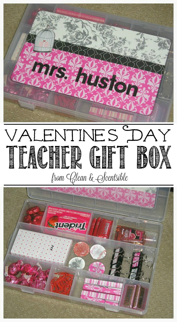 Such a cute and easy idea for a Valentine's Day teachers gift idea - would work for any holiday!