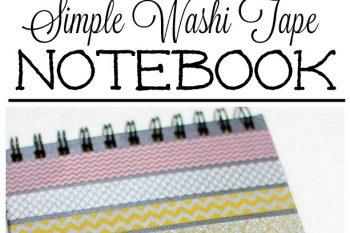Cute Washi Tape Journal