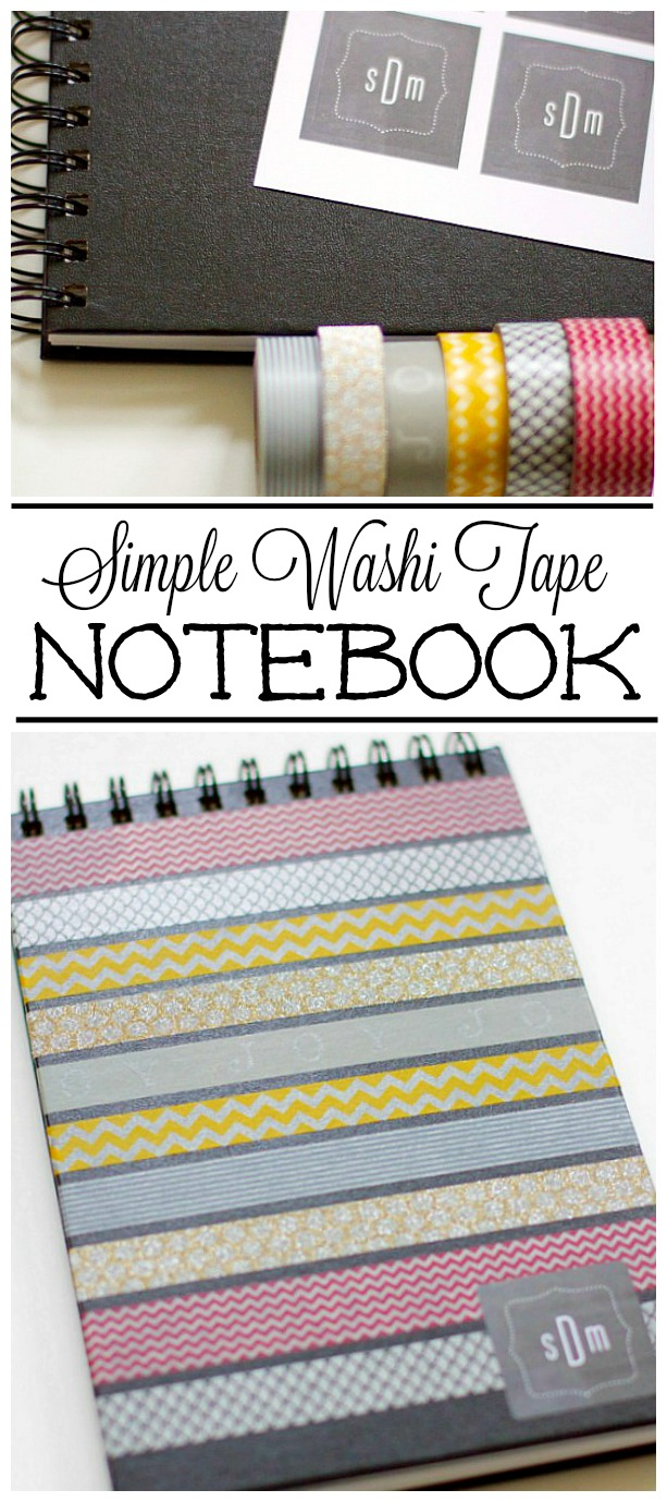 How To Make A Book Cover Without Tape : Cute washi tape journal clean and scentsible