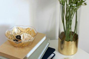 DIY Gold Leaf Bowls [video tutorial]