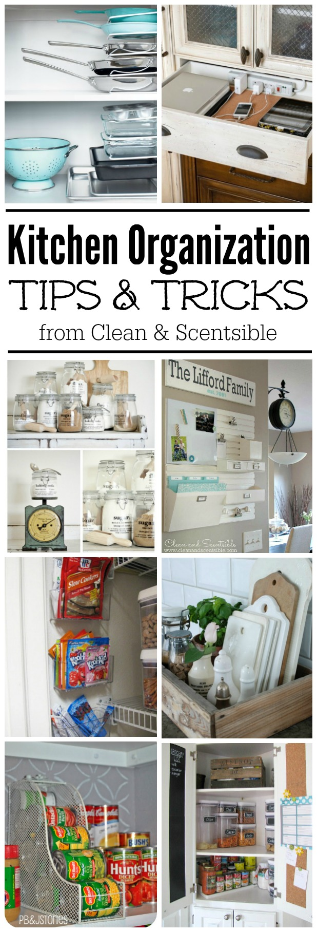 Easy kitchen organization ideas clean and scentsible for Kitchen organization ideas