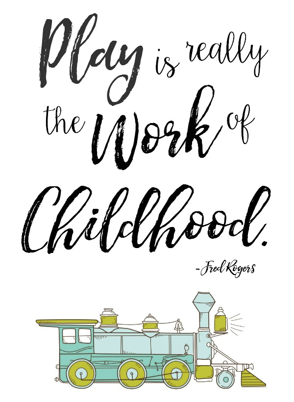 I love this quote! This free printable would be great in a playroom or kids bedroom. Two versions available.