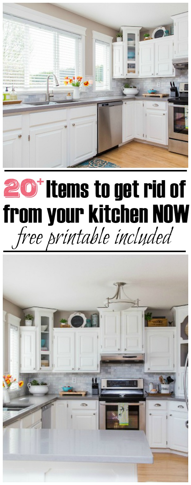 Amazing The 30 Minute Kitchen Decluttering Challenge   20 Things To Declutter NOW!  Free Printable Included