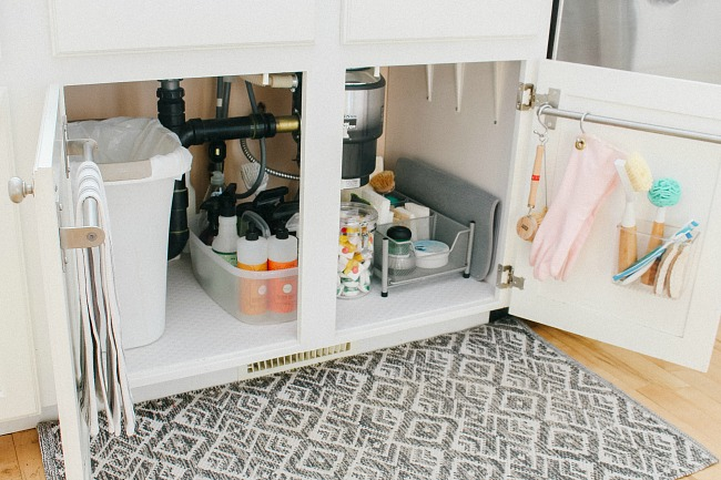 Under Sink Organization Ideas - Clean and Scentsible on drawers under kitchen sink, paint under kitchen sink, cleaning under kitchen sink, plumbing under kitchen sink, storage under kitchen sink, painting under kitchen sink, curtains under kitchen sink, electrical under kitchen sink,