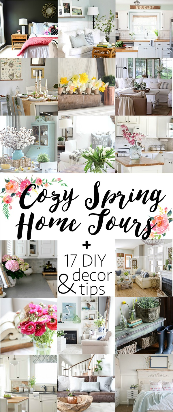Beautiful collection of spring home tours. Tons of spring project and design tips to help you decorate your home for spring!