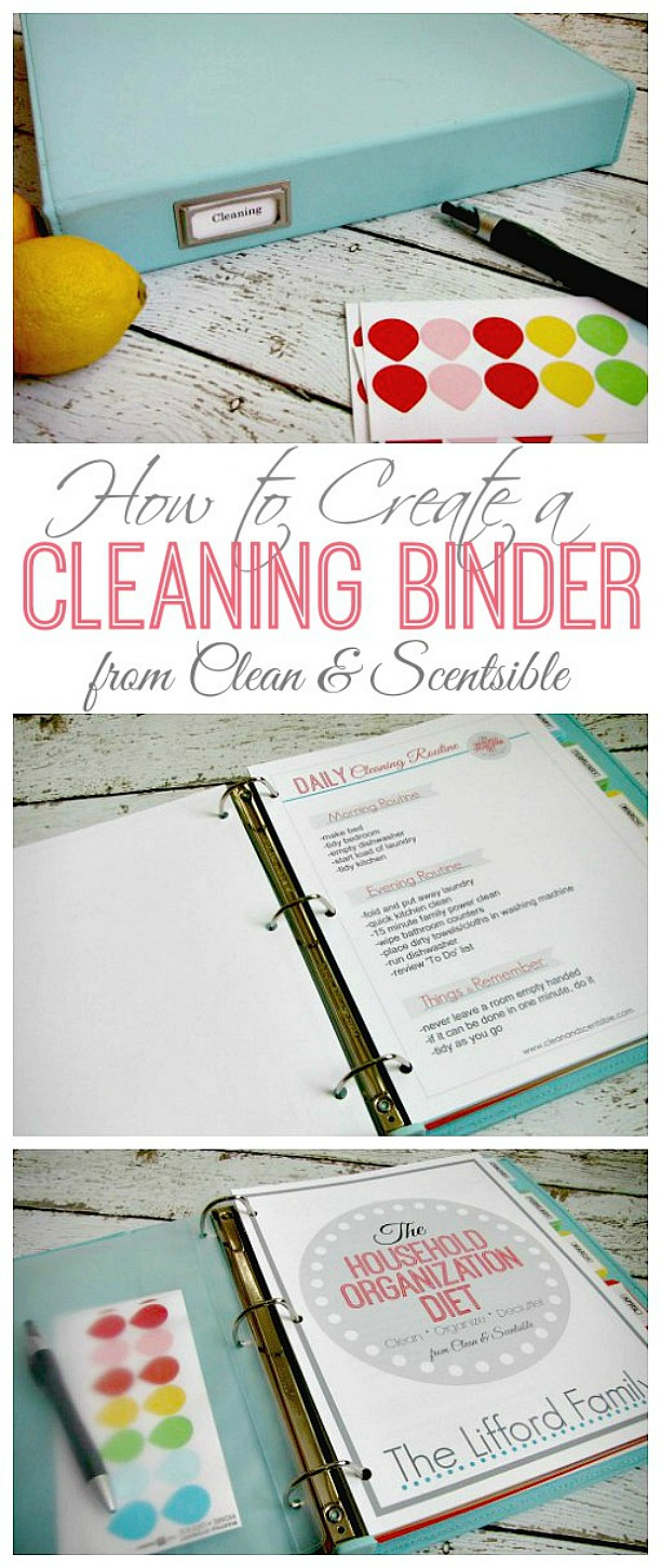 Tips and printables to help you create a cleaning binder. This is a great way to help keep you on track and actually get things done quicker!