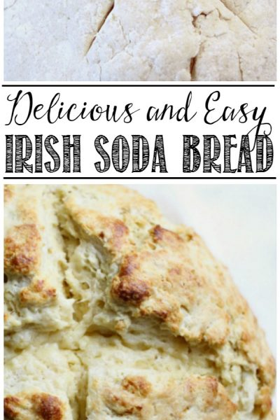 This delicious Irish soda bread is so easy to make with only 15 minutes of prep time! You can't beat fresh baked bread!