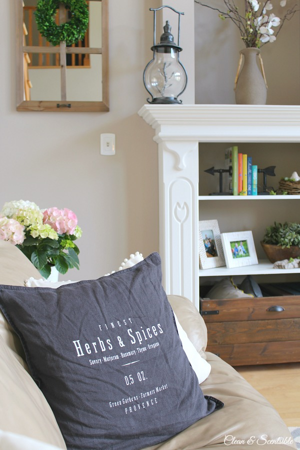 Living Room Spring Home Tour 1