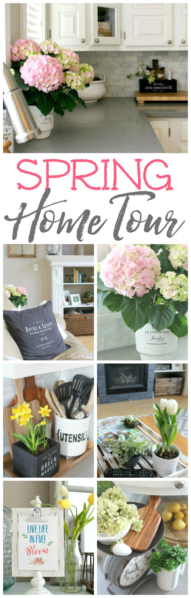 spring home tour - clean and scentsible