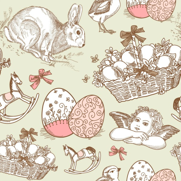 Beautiful vintage Easter print.