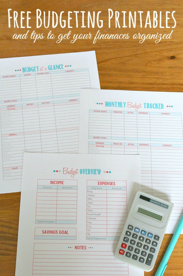 Get your finances back on track with these free budgeting printables! Great addition to your family binder.