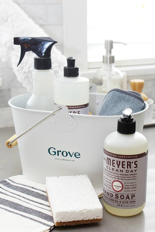 Basic cleaning kit for spring cleaning.