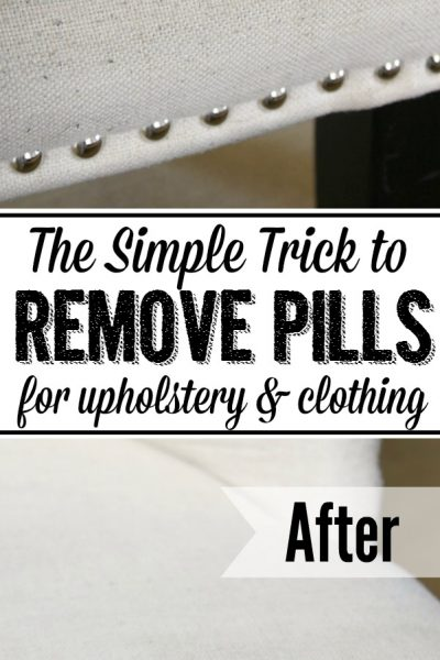 How to remove pills. Such a quick and easy way to get your clothing and upholstered furniture looking like new again!