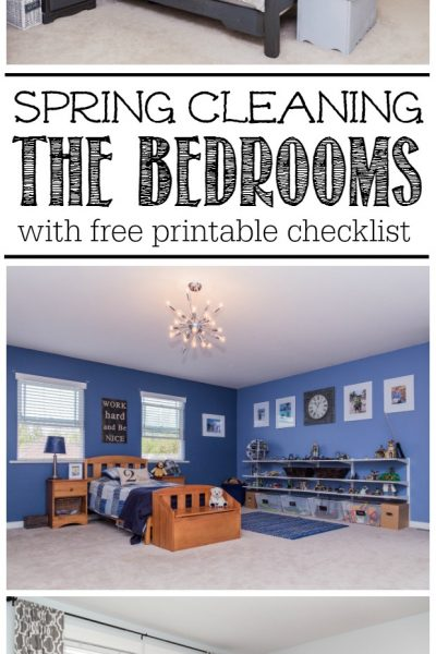 Great step by step tutorial on how to spring clean the bedroom. Lots of tips as well as a printable bedroom spring cleaning checklist.