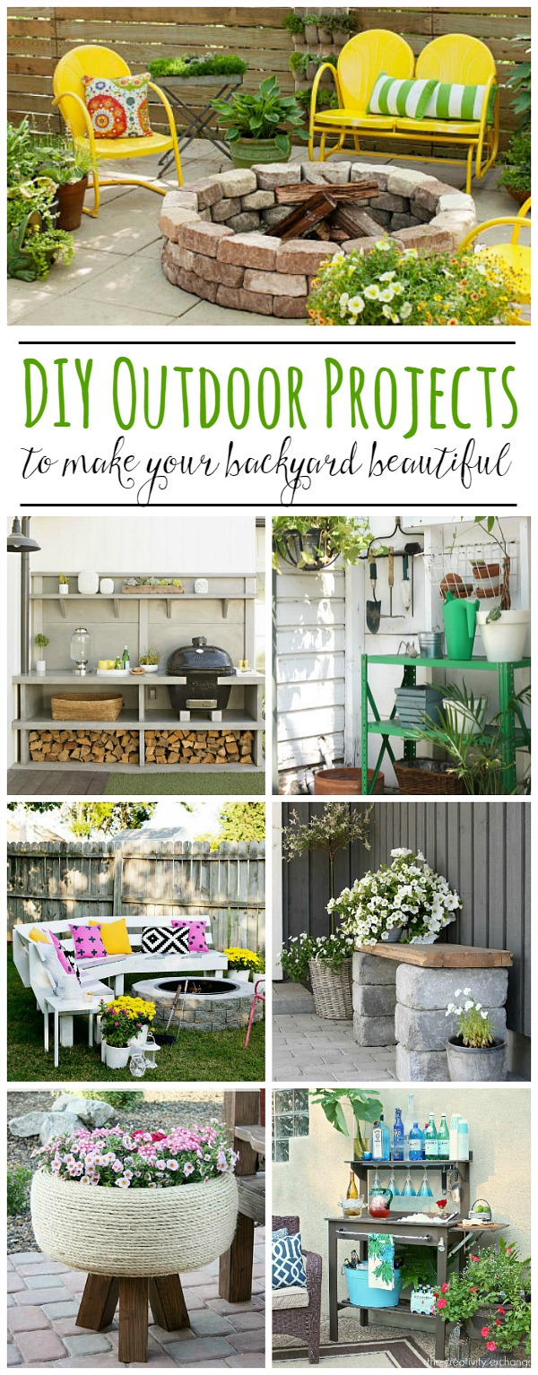 Awesome outdoor DIY ideas to increase your curb appeal and take your patio and backyard to the next level!