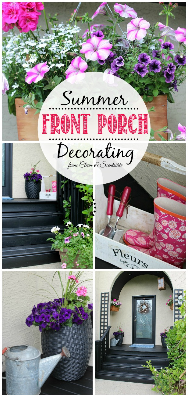 Beautiful summer front porch and outdoor decor ideas.