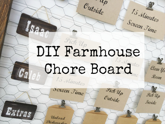 DIY Farmhouse Chore Board Title