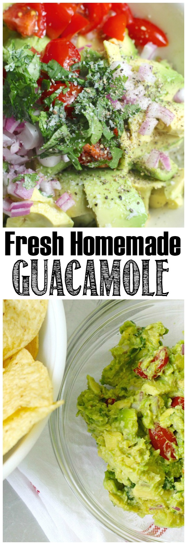 Fresh, homemade guacamole recipe. Yummy!!