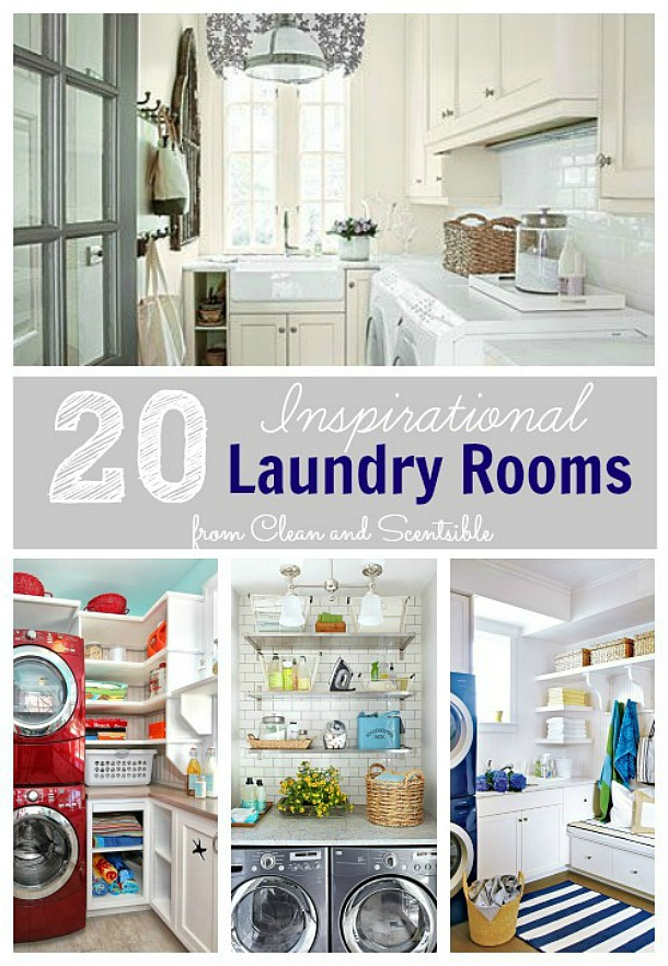 Beautiful laundry room design inspiration to make your laundry room pretty and functional.