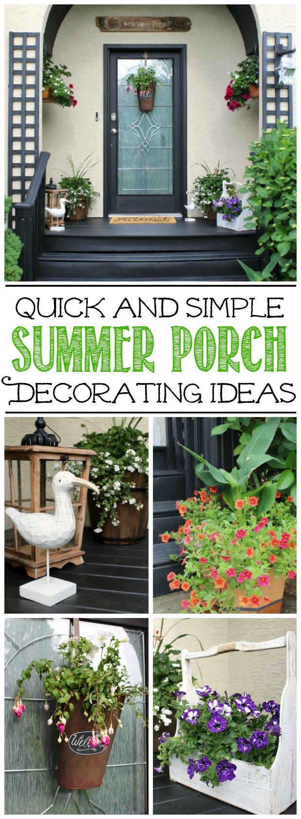 Simple summer decorating ideas for your front porch or patio. Beautiful!