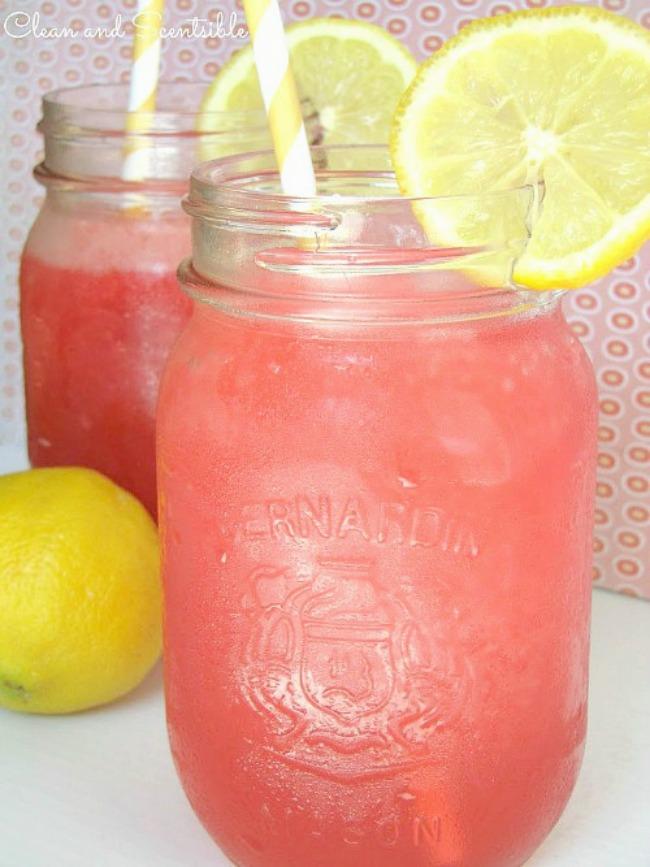 Raspberry cherry lemonade slushie - the perfect summer drink!